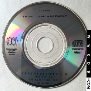 Front Line Assembly Digital Tension Dementia product image photo cover number 3